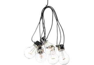 KONSTSMIDE 2372-100 LED Lichterkette, Schwarz/Transparent, Warmweiß