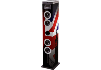 BIGBEN TW12CD UNION JACK Sound Tower (CD, USB, mehrfarbig)