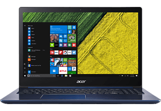 ACER Swift 3 (F315-51G-55Z9), Notebook mit 15.6 Zoll Display, Core™ i5 Prozessor, 8 GB RAM, 128 GB SSD, 1 TB HDD, GeForce® MX150, Stellar Blue (Unibody Aluminium)