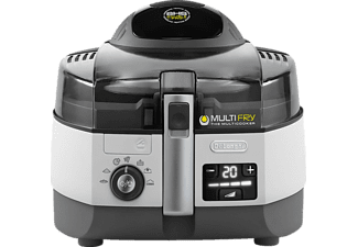 DELONGHI MultiFry FH1394/2, Fritteuse, 1700 g, Weiß/Schwarz
