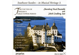 Skaraborg Vocal Ensemble, Jakob Lindberg - The Top Ten of Sweden's Great Power Period - (CD)