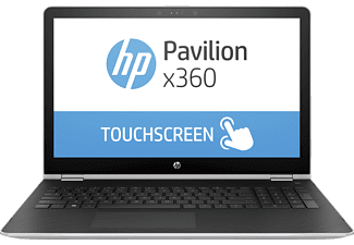 HP Pavilion x360 - 15-br030ng, Convertible mit 15.6 Zoll, 256 GB Speicher, 8 GB RAM, Core™ i5 Prozessor, Windows 10 Home, Silber
