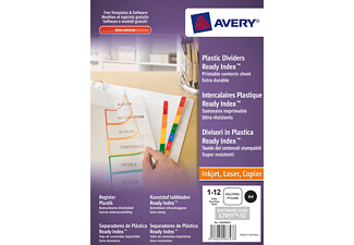 AVERY ZWECKFORM 1736501, Spezialkarton Register