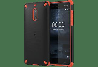 NOKIA Rugged Back Case voor Nokia 6 Oranje