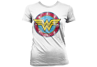 Wonder Woman Girlie Shirt Distressed Logo XL