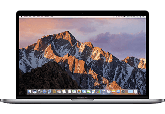 APPLE MacBook Pro mit Touch Bar und US-Tastatur, Notebook mit 15.4 Zoll Display, Core i7 Prozessor, 16 GB RAM, 512 GB SSD, Radeon Pro 555 (+ Intel Graphics 630 automatisch umschaltend), Space Grey