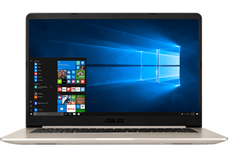 ASUS S510UA-BR153T CI5-7200U/8GB/1TB HDD+256GB SSD, Notebook mit 15.6 Zoll Display, Core™ i5 Prozessor, 8 GB RAM, 1 TB HDD, 256 GB SSD, HD-Grafik 620, Icicle Gold