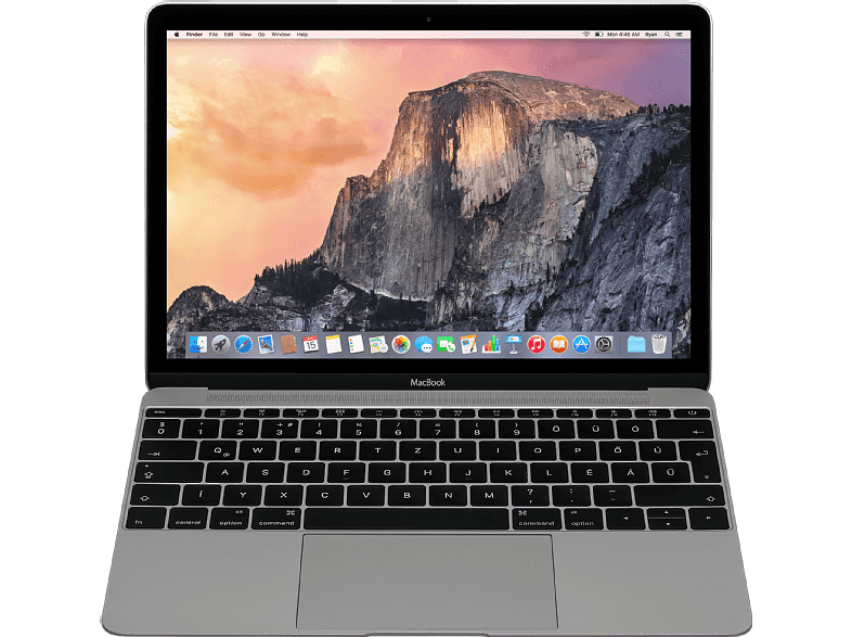 "APPLE MacBook 12"" Retina (2017) asztoszürke Core M3/8GB/256GB SSD (mnyf2mg/a)"