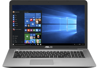 ASUS R753UW-T4080T, Notebook mit 17.3 Zoll Display, Core™ i7 Prozessor, 16 GB RAM, 1 TB HDD, 256 GB SSD, GeForce® GTX 960M, Gray Metal