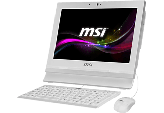 MSI AP1622ET-050XDE, All-in-One PC mit 15.6 Zoll, Anti-Glare Display, 128 GB Speicher, 4 GB RAM, Celeron® Prozessor, Weiß