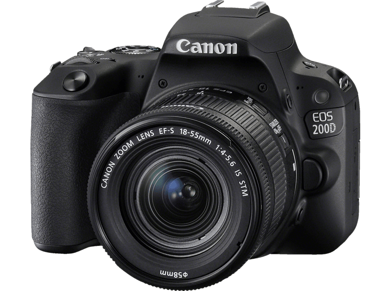 CANON EOS 200D Black μαζί με Φακό 18-55 IS hobby   φωτογραφία φωτογραφικές μηχανές dslr cameras