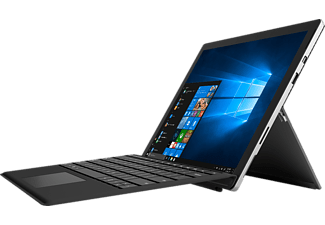 MICROSOFT Surface Pro 4 - inkl. Surface Pro Type Cover, Convertible mit 12.3 Zoll, 128 GB Speicher, 4 GB RAM, Core i5 Prozessor, Windows 10 Pro, Silber