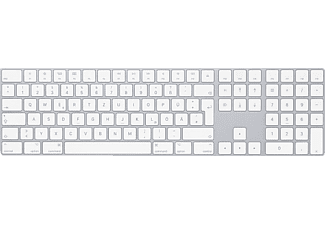 APPLE MQ052D/A Magic Keyboard mit Ziffernblock D, Bluetooth Tastatur, Silber