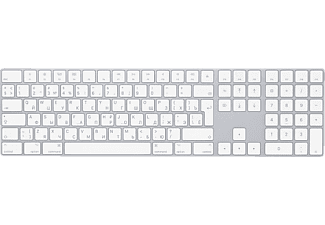 APPLE MQ052RS/A Magic Keyboard mit Ziffernblock RU, Bluetooth Tastatur, Silber