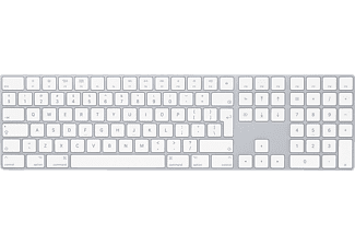 APPLE MQ052Z/A Magic Keyboard mit Ziffernblock INT ENG, Bluetooth Tastatur, Silber