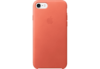 APPLE Leder Case, Backcover, Apple, Backcover, iPhone 7, Echtleder, Geranie