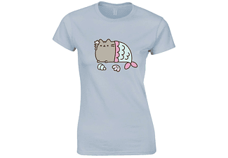 PUSHEEN-MERCAT-GIRLIE SHIRT M