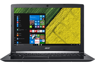 ACER Aspire 5 (A515-51G-78HP), Notebook mit 15.6 Zoll Display, Core™ i7 Prozessor, 8 GB RAM, 256 GB SSD, GeForce® 940MX, Schwarz