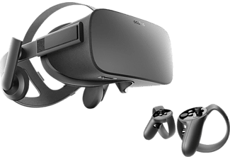 OCULUS Rift Virtual Reality Headset + Touch Motion-Controller, VR-Brille, Schwarz