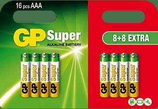 GP Alkaline AAA 8+8