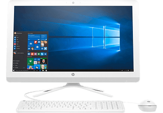 HP All-in-One - 24-g011ng, All-in-One-PC mit 23.8 Zoll, entspiegelt Display, 1 TB Speicher, 8 GB RAM, Intel® Core™ i3 der sechsten Generation Prozessor, Türkis, Weiß