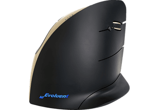 EVOLUENT Vertical Mouse C Wireless ergonomische Maus, Gold/Schwarz