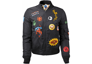 Marvel Bomber Jacke (Damen) -XS- All over Hero Pat