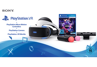 SONY PlayStation VR + Move Motion Controllers + Camera + VR Worlds