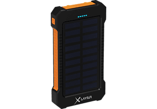 XLAYER XLayer PLUS Solar Powerbank 8000 mAh Orange/Schwarz
