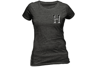 Harry Potter Girlie T-Shirt Hogwarts S grau