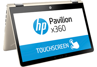 HP Pavilion x360 Intel Core i5-7200U 8GB 256SSD 2 GT 940MX Touch penFHD (2GS62EA) Notebook Gold