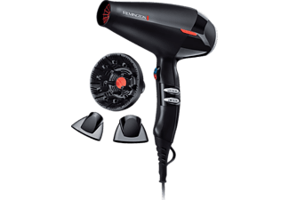REMINGTON AC9007 Salon Collection, Haartrockner, 2200 Watt, Schwarz/Rot