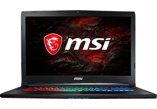 MSI GP72M 7RDX, Gaming Notebook mit 17.3 Zoll Display, Core™ i7 Prozessor, 16 GB RAM, 256 GB SSD, 1 TB HDD, GeForce GTX 1050, Schwarz