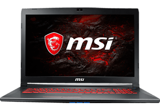 MSI GV72 7RE-885DE, Gaming Notebook mit 17.3 Zoll Display, Core™ i7 Prozessor, 8 GB RAM, 128 GB SSD, 1 TB HDD, GeForce GTX 1050 Ti, Schwarz/Grau-Anthrazit