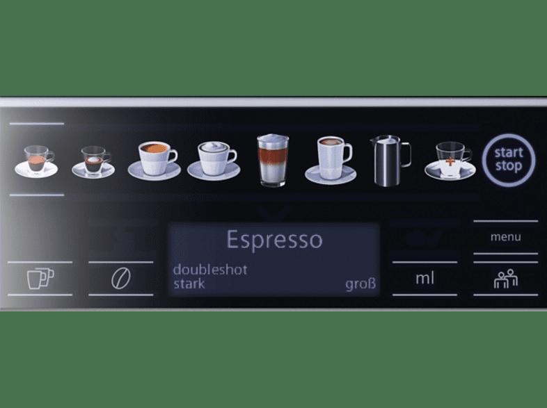 SIEMENS TE657503 DE EQ.6 plus S700, Kaffeevollautomat, 1.7 Liter Wassertank, 19 bar, Edelstahl/Schwarz