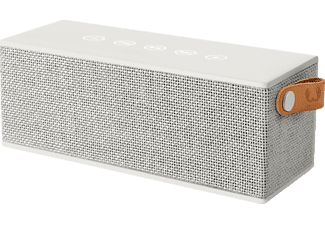 FRESH N REBEL Rockbox Brick Fabriq Edition, Bluetooth Lautsprecher, Ausgangsleistung 2x 6 Watt, Hellgrau