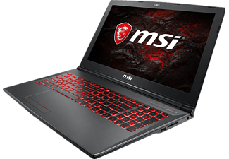 MSI GV62 7RD-1626DE, Gaming-Notebook mit 15.6 Zoll Display, Core™ i7 Prozessor, 8 GB RAM, 256 GB SSD, 1 TB HDD, GeForce® GTX 1050, Schwarz
