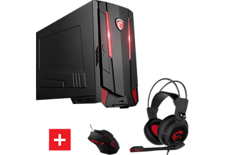 MSI Nightblade MI3 7RB, Gaming PC mit Core™ i5 Prozessor, 8 GB RAM, 2 TB HDD, 2 TB HDD, GeForce GTX 1050 Ti Gaming X 4G, 4 GB GDDR5 Grafikspeicher