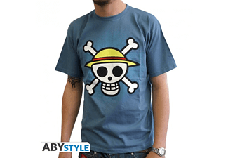 Skull With Map - Stone Blue L