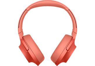SONY WH-H 900 N, Over-ear Kopfhörer, Near Field Communication, Headsetfunktion, Bluetooth, Rot
