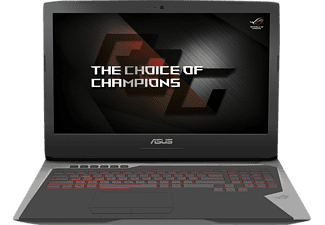 ASUS G752VS-BA462T, Gaming Notebook mit 17.3 Zoll Display, Core™ i7 Prozessor, 16 GB RAM, 512 GB SSD, 512 GB SSD, GeForce GTX 1070, Grau/Schwarz