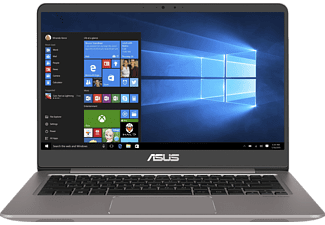 ASUS UX3410UA-GV139T, Notebook mit 14 Zoll Display, Core™ i7 Prozessor, 8 GB RAM, 512 GB SSD, HD-Grafik 620, Quarz Grau