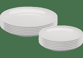 ARZBERG 42100-590003-2835 Cucina-Basic ROK 12-tlg. Speisesgeschirr-Set, Weiß