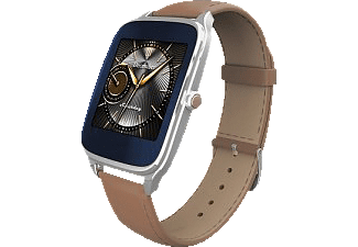ASUS  ZenWatch 2 Smart Watch Leder, 115 mm, Silber/Braun