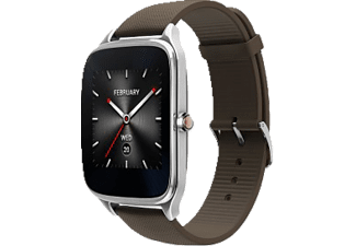 ASUS  ZenWatch 2 Smart Watch Silikon, 115 mm, Silber/Braun