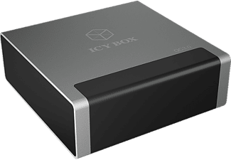 ICY BOX ICY BOX 4-Port USB Quick Battery Charger, Ladegerät, Grau/Schwarz