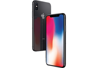 APPLE iPhone X, Smartphone, 256 GB, 5.8 Zoll, Space Grey, LTE