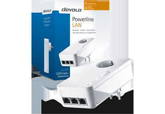 DEVOLO dLAN 1200 Triple+ Powerline Adapter, weiß (9896)