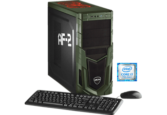 HYRICAN MILITARY 5479, Gaming PC mit Core™ i7 Prozessor, 16 GB RAM, 250 GB SSD, 1 TB HDD, Geforce® GTX 1080, 8 GB GDDR5 Grafikspeicher