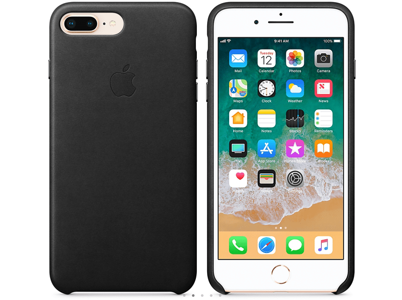 APPLE Θήκη iPhone 8 Plus / 7 Plus Leather Black smartphones   smartliving iphone θήκες iphone smartphones   smartliving αξεσουάρ